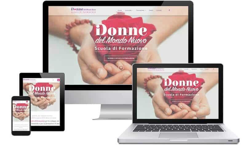 Donne del Mondo Nuovo - Sito internet - Sito web professionale Realizzato da Idra Web di Verona