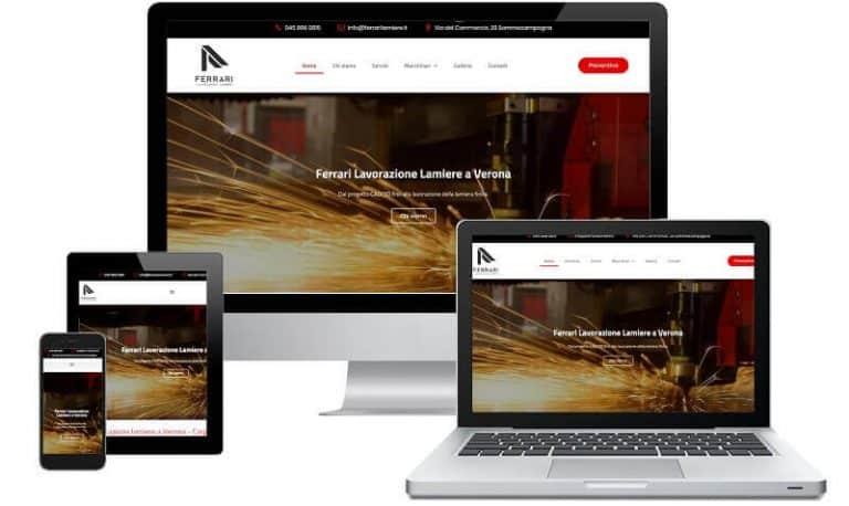 Ferrari Lamiere - Sito internet - Sito web professionale Realizzato da Idra Web di Verona