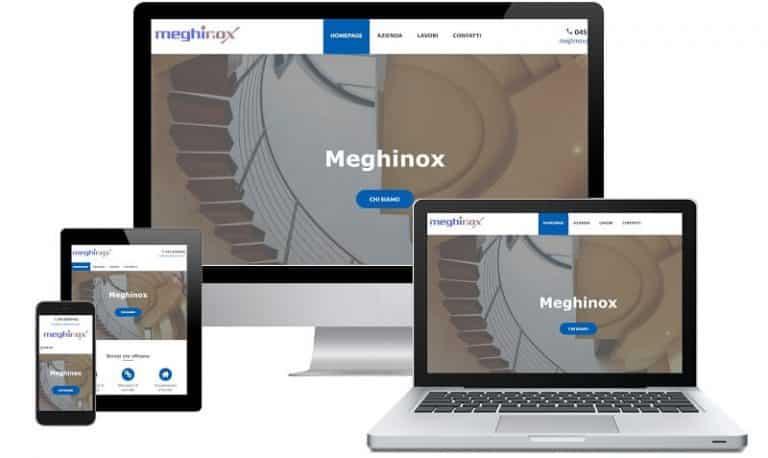 Meghinox - Sito internet responsive - Sito web professionale Realizzato da Idra Web di Verona