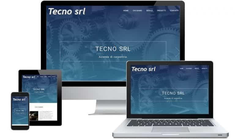 Tecno srl - Sito internet responsive - Sito web professionale Realizzato da Idra Web di Verona