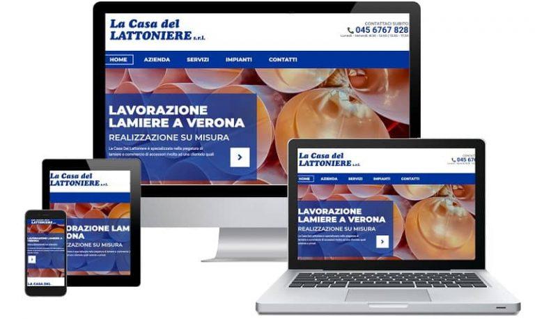 Sito web La Casa Del Lattoniere - Sito internet. Realizzato da Idra Web di Verona