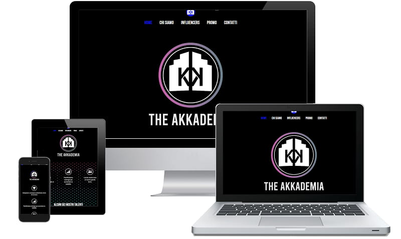 Sito web The Akkademia - Sito internet. Realizzato da Idra Web di Verona